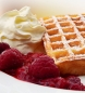 Mobile Preview: Waffeln mit Himbeeren
